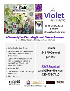 A violet Affair flyer